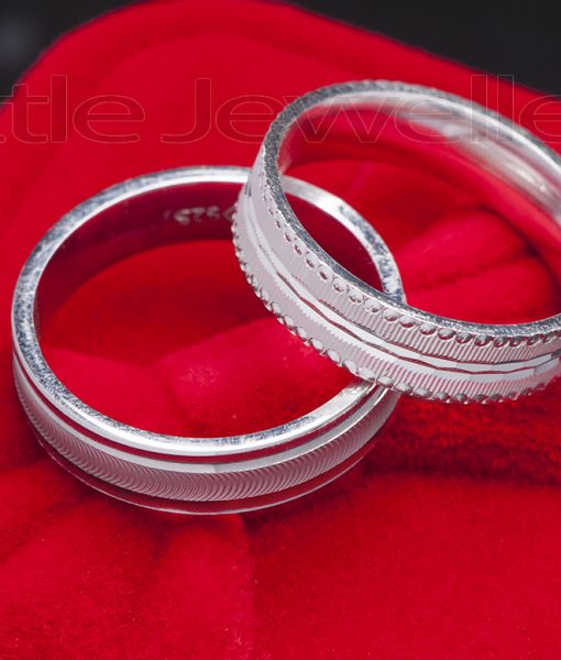 ring double exquisite winter rings box wedding silver pin