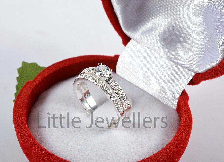 Silver Valetines Day Engagement Ring