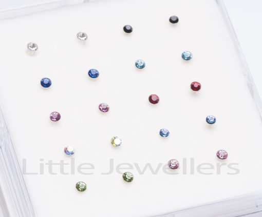 Sterling Silver Colored Nose rings