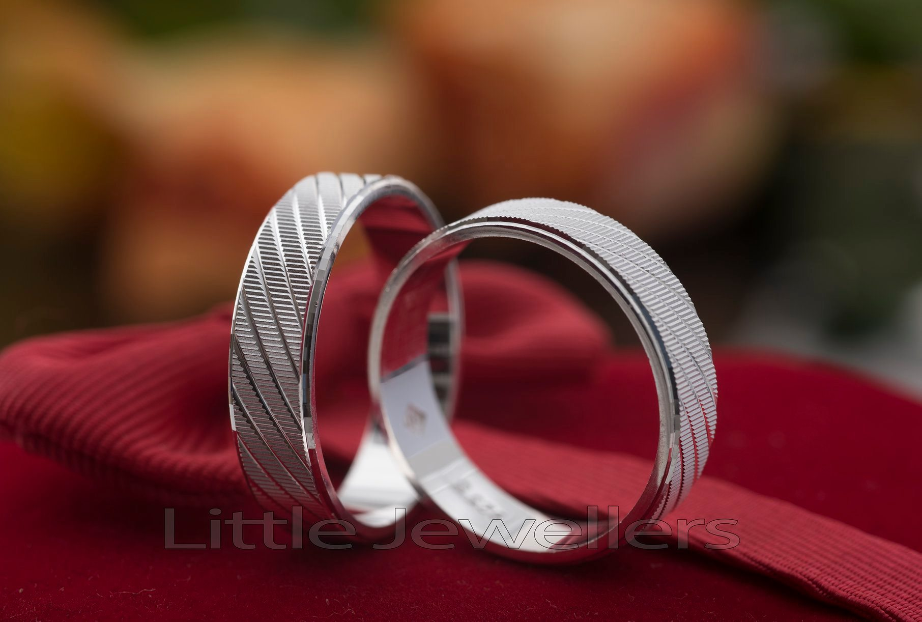 silver wendding bands