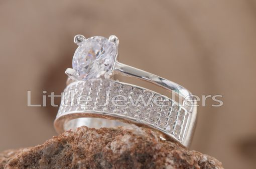 Sterling Silver Engagement Ring