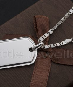 Sterling Silver Chain with Dog tag Pendant