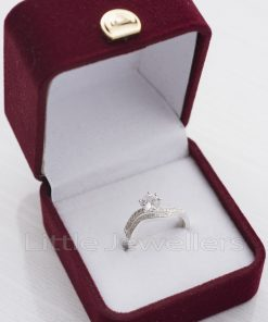 cubic zirconia double engagement ring