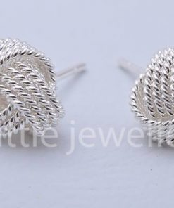 Sterling Silver love Knot studs