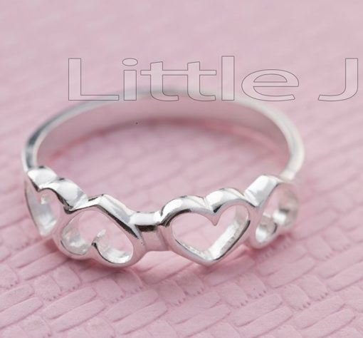 Love Heart Silver Ring,