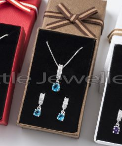 Silver Multi Colored Necklace Sets