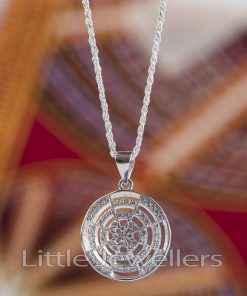 Sterling Silver Micro Round Necklace