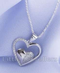 Sterling Silver beautifully Crafted Heart Necklace