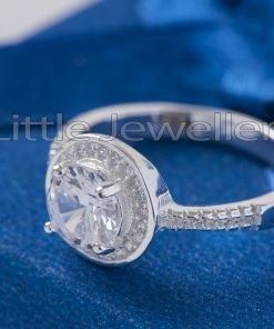 Sterling Silver Single Engagement Ring