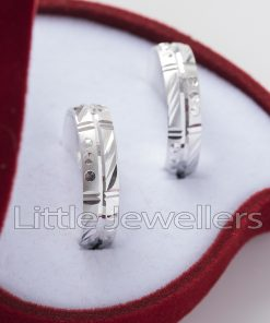 Sterling Silver His & Hers Wedding Rings