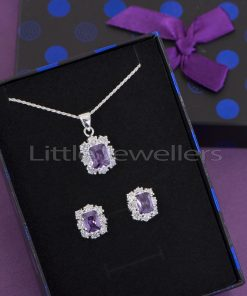 Sterling Silver Purple Matching Necklace