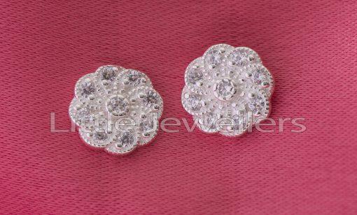 Sterling Silver Flower Earring Studs