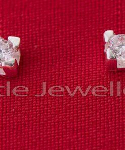 Sterling Silver Cz Studs Earrings