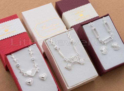 Simple Silver Bracelets & Earrings