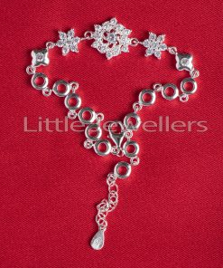 Sterling Silver Flower Shaped Bracelet