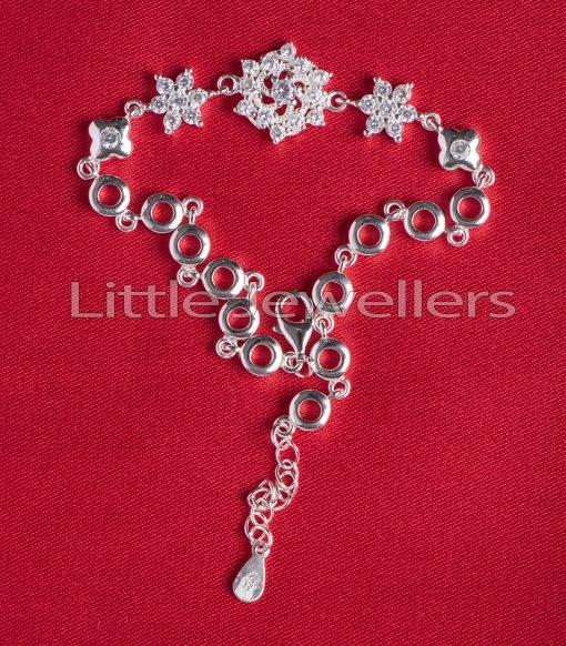 Sterling Silver Flower Shaped Bracelet