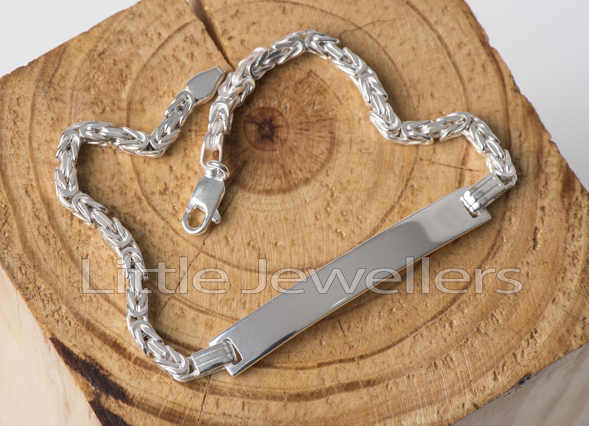 Sterling Silver Male Bracelet