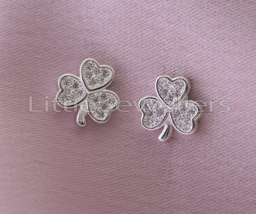 Sterling Silver Oxalis Flower Stud Earrings