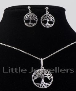 Stunning tree of life necklace set