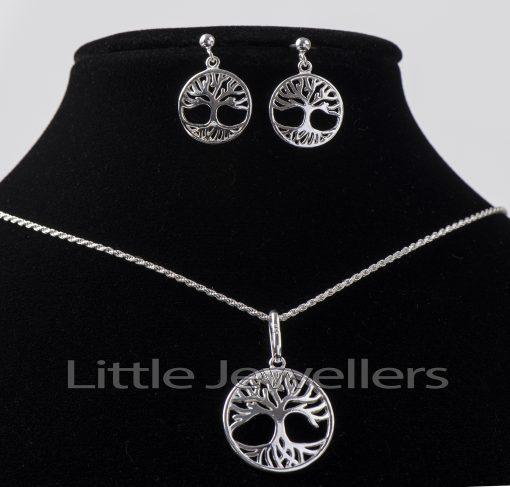 Stunning tree of life necklace set
