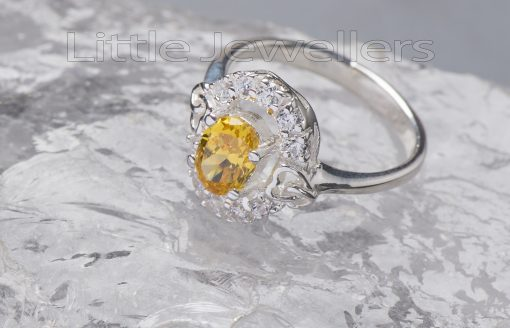 This cz citrine sterling silver ring gives you an elegant feel.