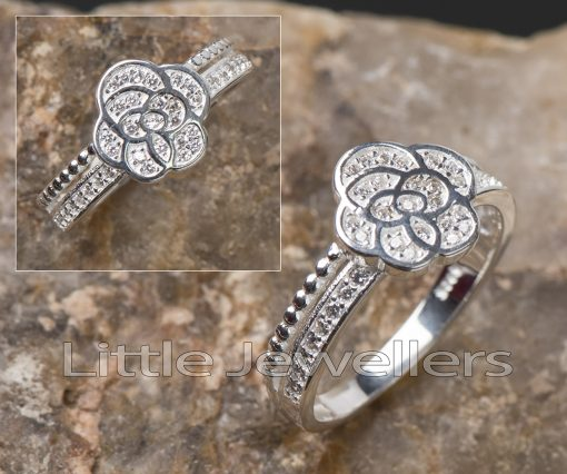 A silver rose engagement ring is a permanent & lasting expression of emotions.