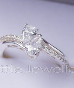 A romantic & stunning Two Stone Pear Shaped Engagement Ring