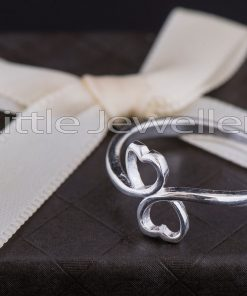 Sterling Silver Double Heart Promise Ring
