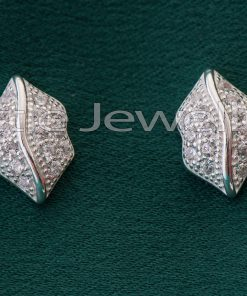 Sterling Silver Leaf Shaped Studs Earrings