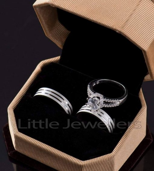 Wedding Rings Inclusive of an engagement ring