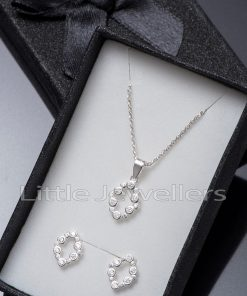 Dainty Oval Necklace And Earrings Set