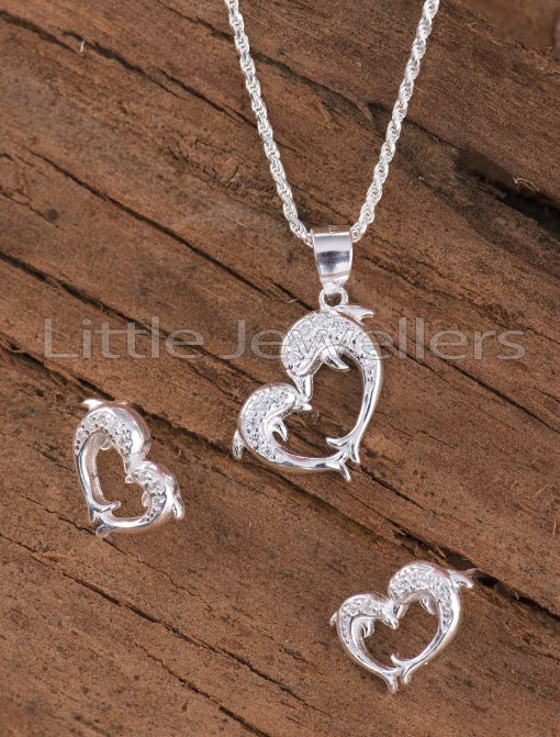 Dolphin necklace set