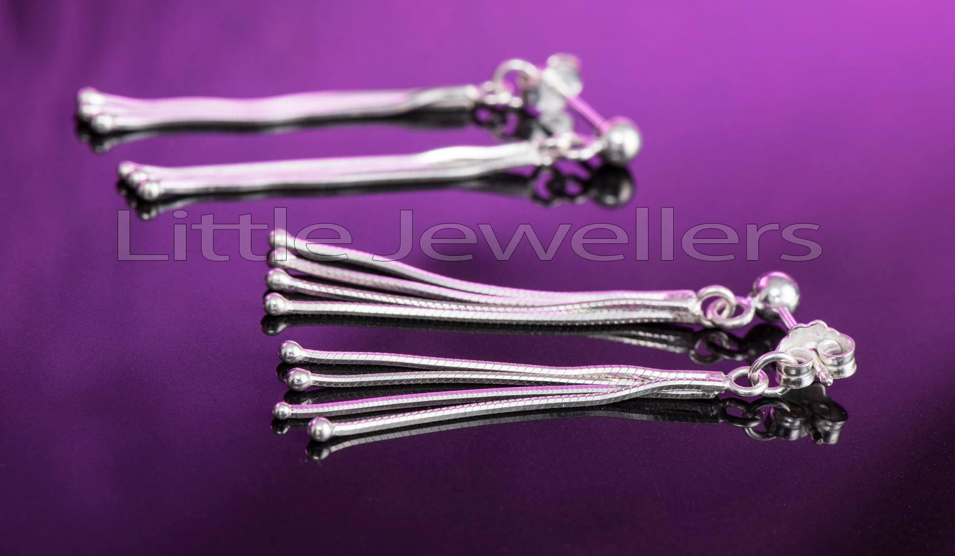 four strand dangling earrings