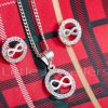 Silver Infinity Necklace and earring Set