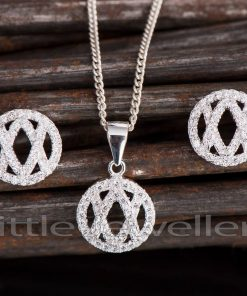 Circular Earring and Necklace Set