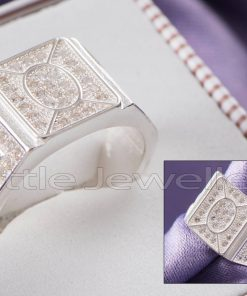 A Bold Silver Male Ring.