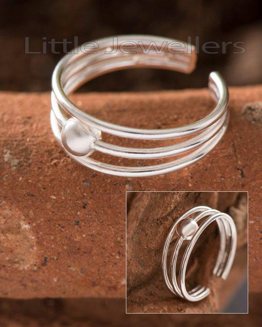 Triple Toe Ring