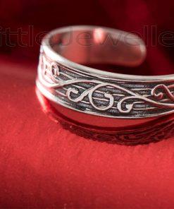 Adjustable Oxidized Toe Ring