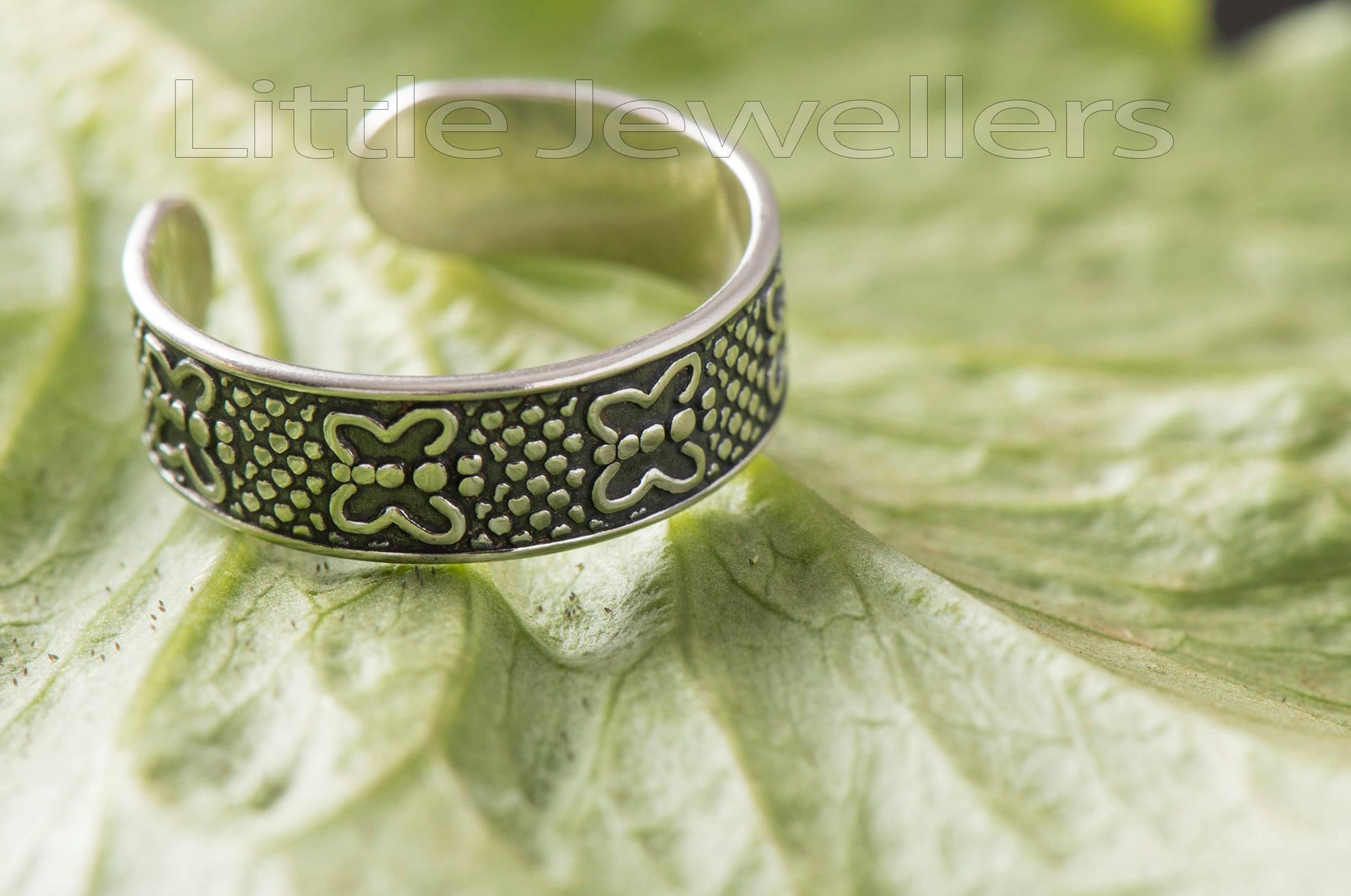 Adjustable Silver Toe Ring
