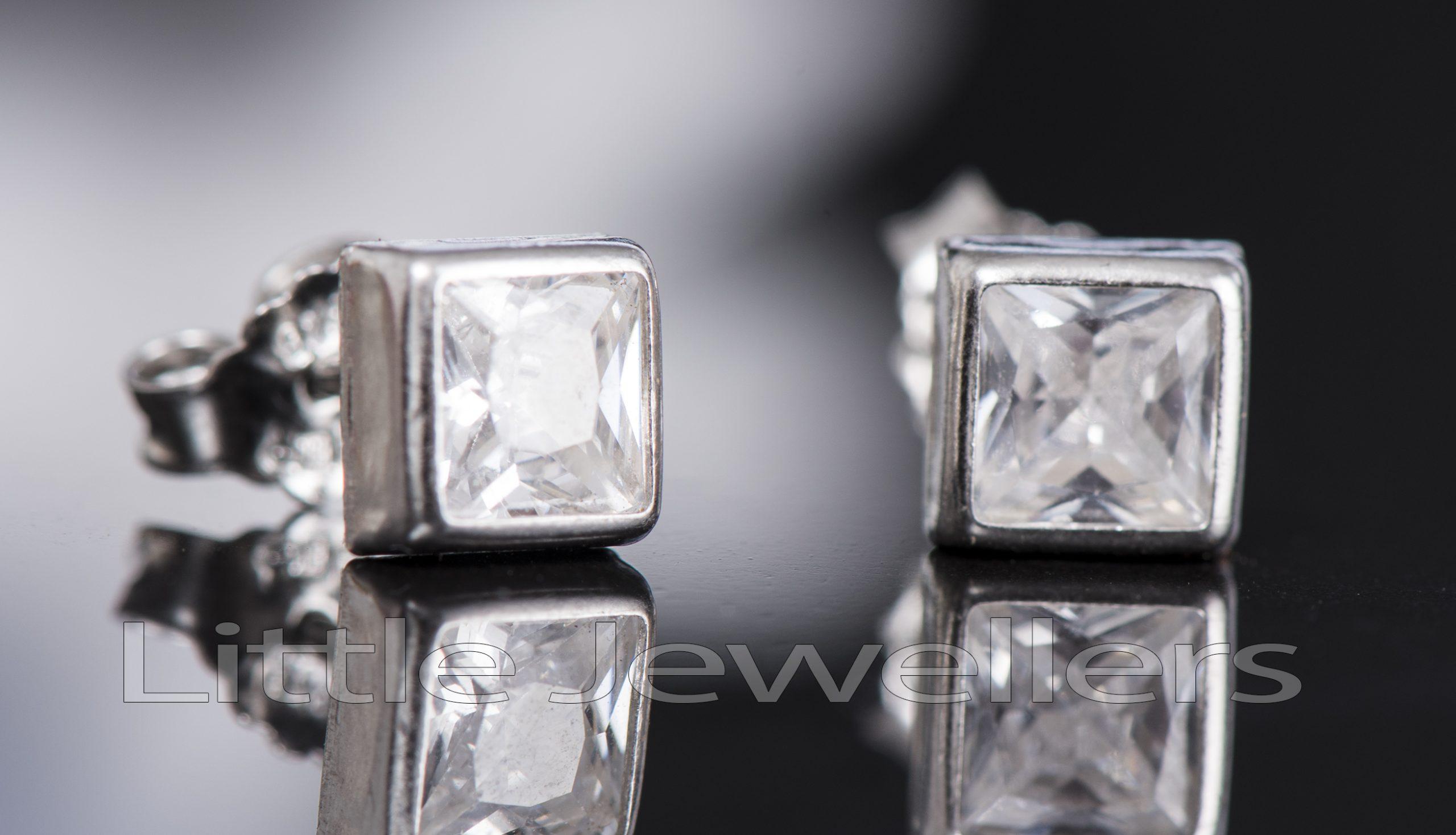 Pure Silver Studs Earrings