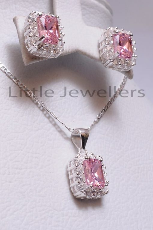 pink jewelry necklace set