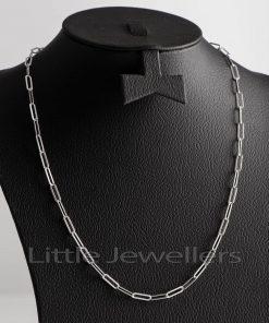 Paper Clip Silver Necklace