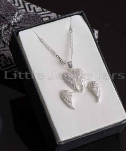 Angel wings Earring and Necklace set