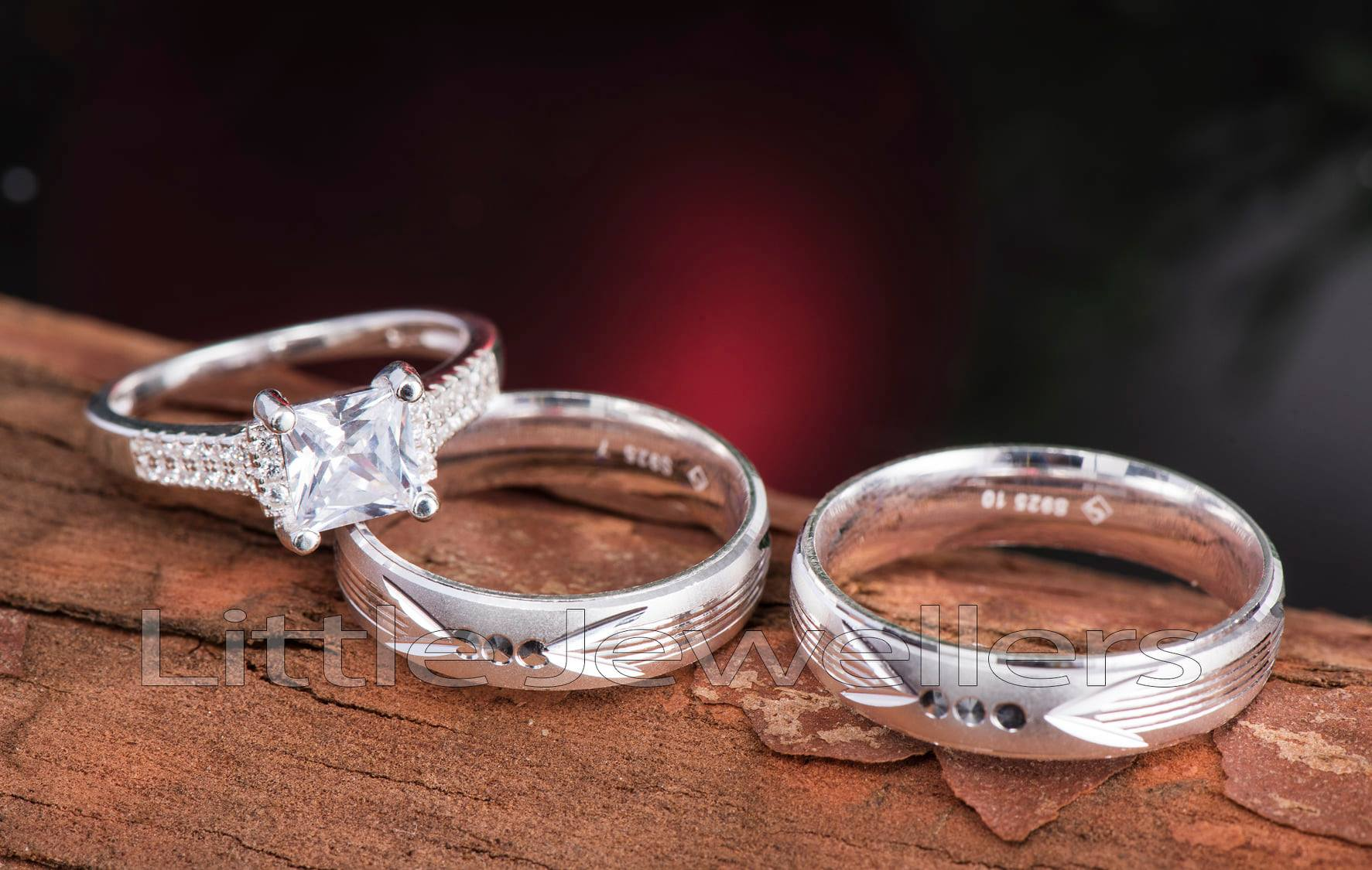 silver sterling wedding bands