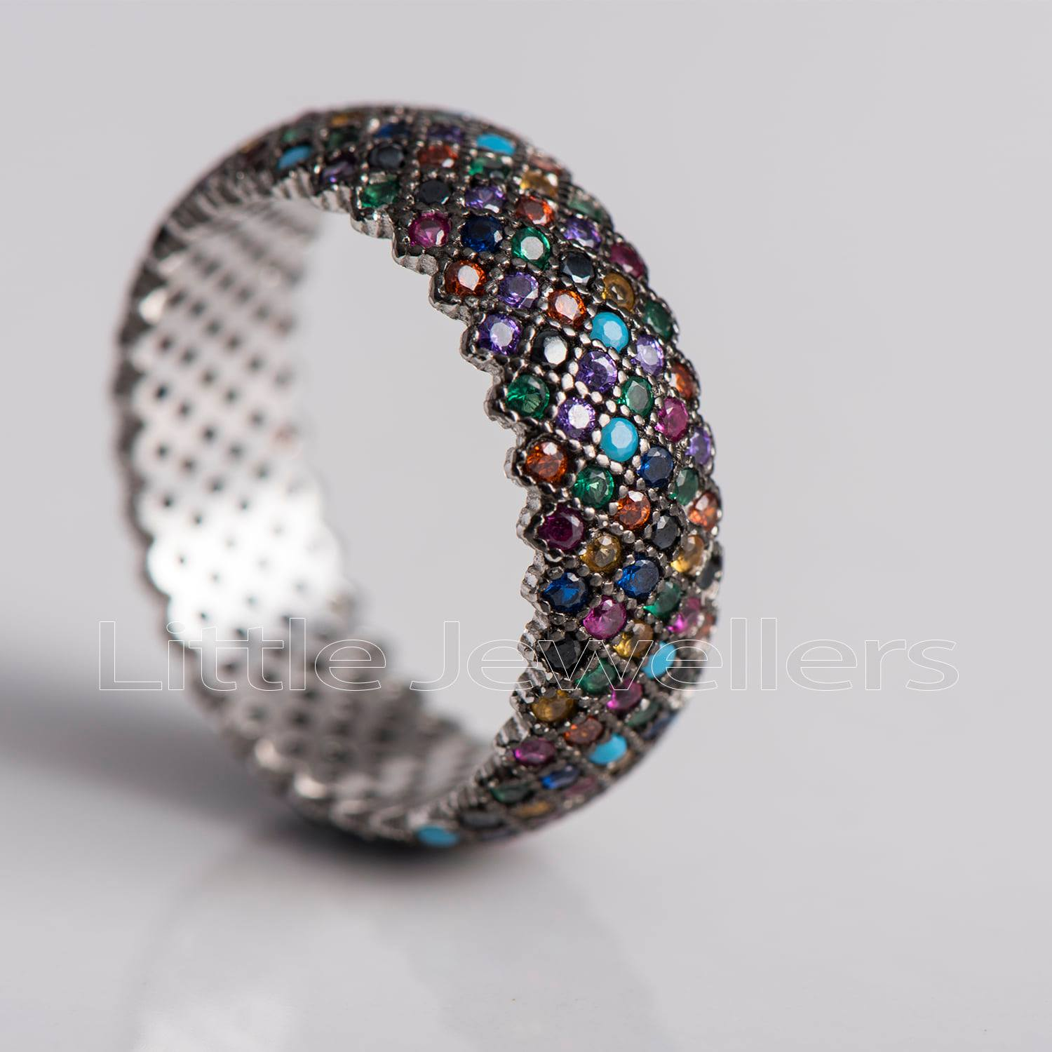 multi colored eternity ring