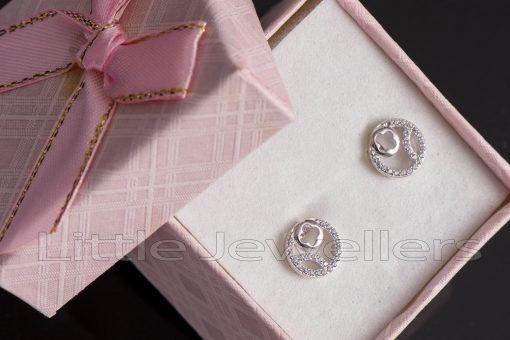 sterling silver stud earrings
