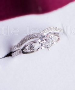 Infinity Double Engagement Ring