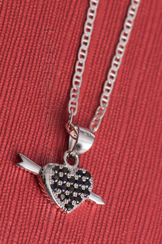 cupid heart necklace