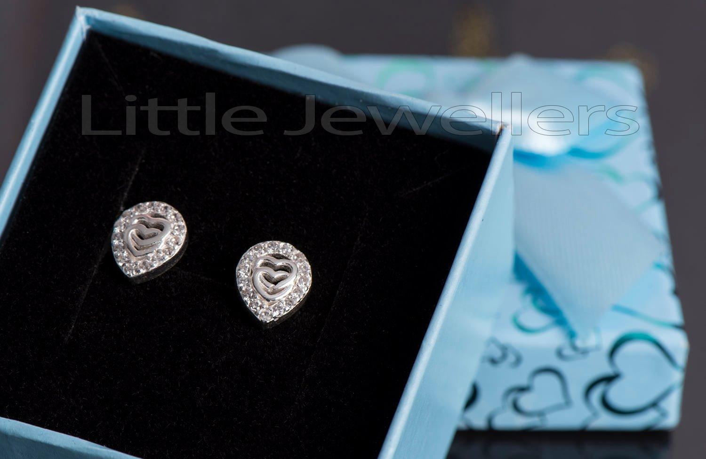 pair of pear shaped stud earrings