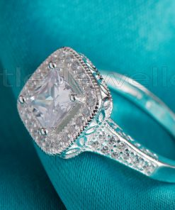A Big and bold square shaped engagement ring